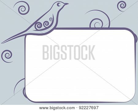 Frame With Bird