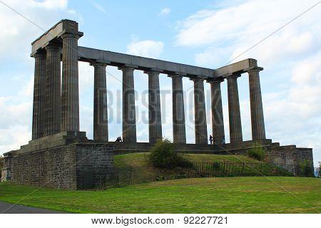 Putative Parthenon In Calton Hill In Edinburgh