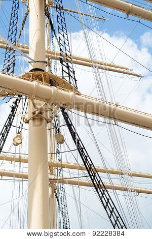 Masts And Rigging Of A Historic Tall Ship