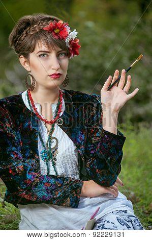 folk woman artist