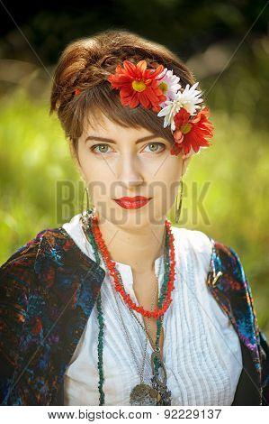 Russian folk woman