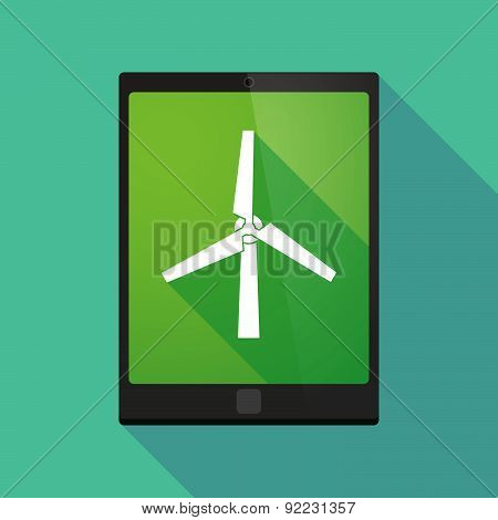 Tablet Pc Icon With A Wind Generator