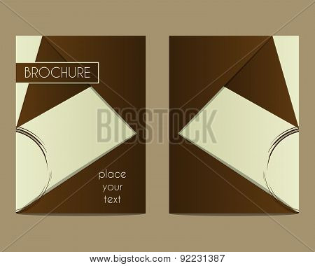 Coffee Stains Brochure Flyer design Layout template. Triangle abstract style. Coffee design. Best fo