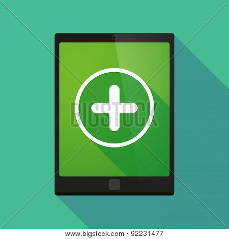 Tablet Pc Icon With A Sum Sign
