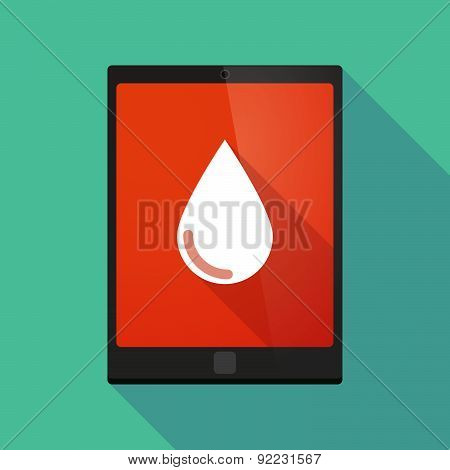 Tablet Pc Icon With A Blood Drop