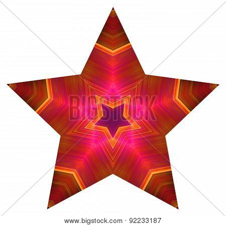 Pentagonal colored star