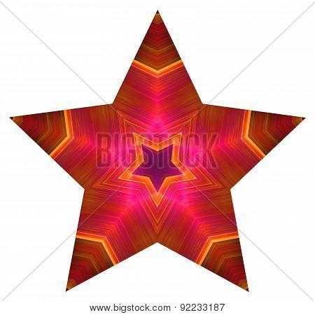 Pentagonal colored star