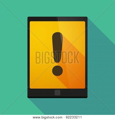 Tablet Pc Icon With An Exclamarion Sign