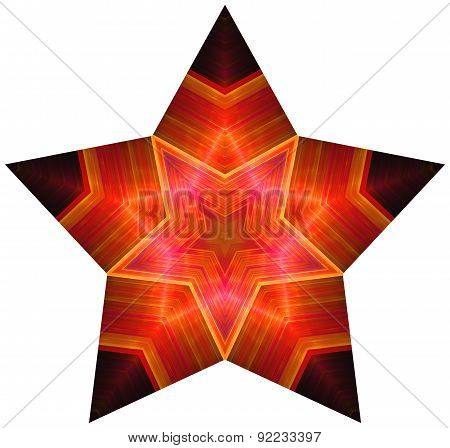 Pentagonal red star