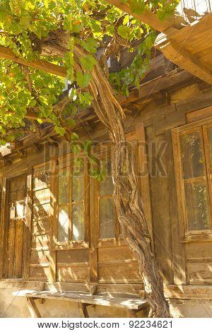 Stylish old house closeup