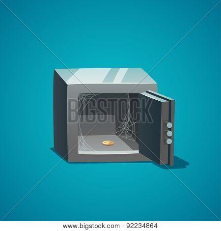 Empty safe. Isolated object \ background.