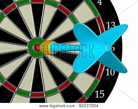 Blue Arrow With Dart Board