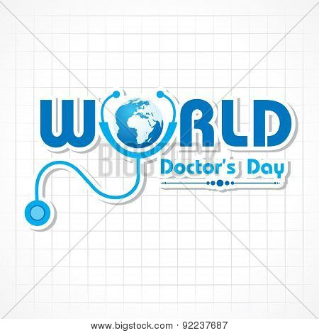Creative National Doctor's Day Greeting Card Stock Vector