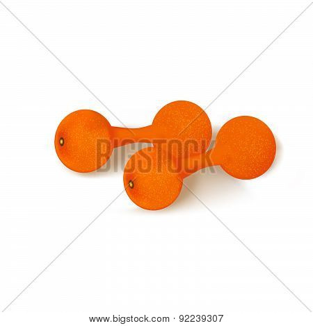 Dumbbells Oranges.