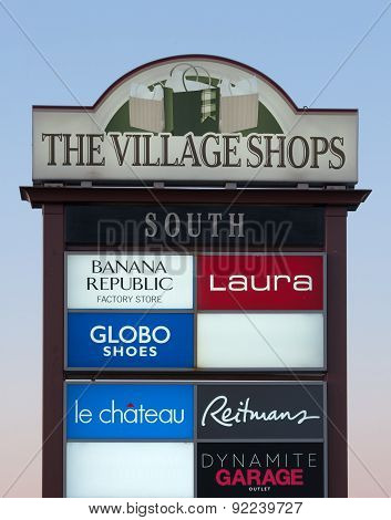 The Village Shops Sign