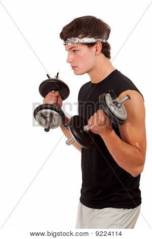 Young Man Exercising