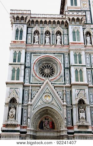 Basilica Of Saint Mary Of The Flower Is The Main Church Of Florence, Italy.