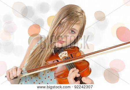 A Pretty Girl Plays Violin