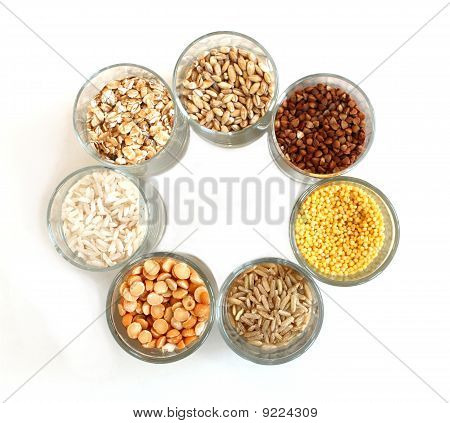 Different kinds of grain