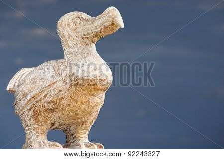 Wooden Dodo bird - typical souvenir from Mauritius island.