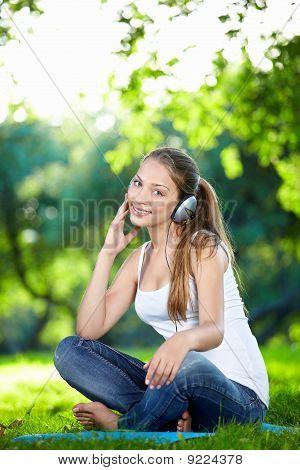 Pretty Girl In Headphones