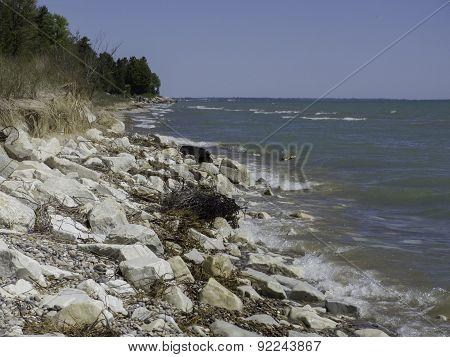 Eroding Lake Michigan Shoreline
