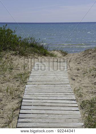 Sand Beach Boadwalk