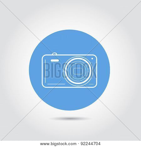 Summer and travel icon - camera. Travel design. Vector illustration