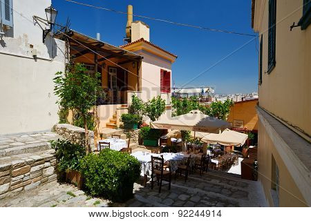 Plaka in Athens, Greece.