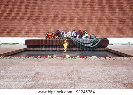 Tomb of the Unknown Soldier with eternal flame