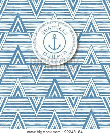 Hand-drawn seamless striped background. Vector pattern.