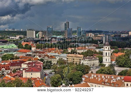 View Of Vilnius Cityscape From The Tower Of St John's Church