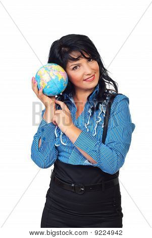 Formal Woman Listen Earth