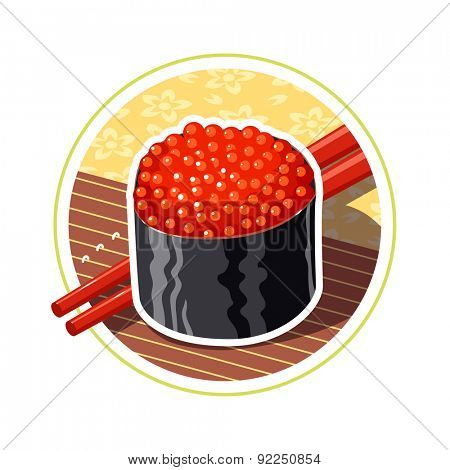 Land japanese food. Eps10 vector illustration. Isolated on white background
