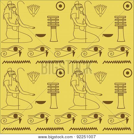 pattern of Egyptian hieroglyphics
