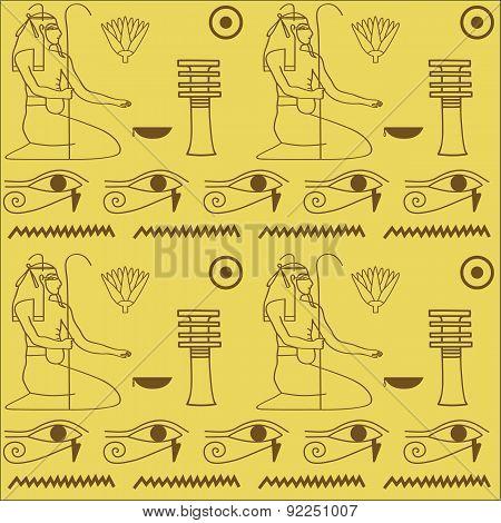 pattern of Egyptian hieroglyphics