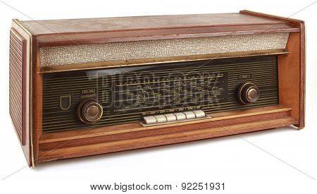 Vintage Radio Tuner Isolated on White Background
