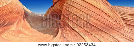 The Wave, Sandstone Formation, Utah, panoramic image