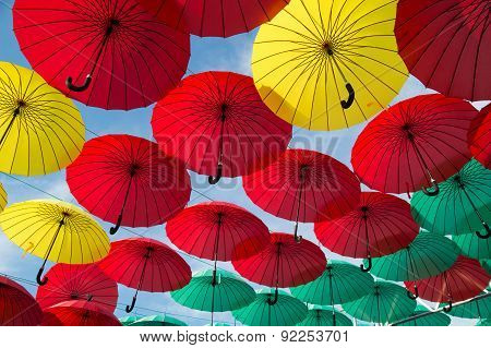 Colofull Umbrellas Background