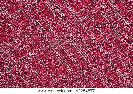 Red Openwork Melange Stockinet As Background