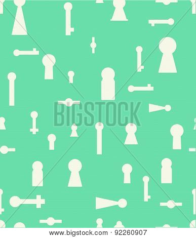 Vector Illustration With Keyhole.