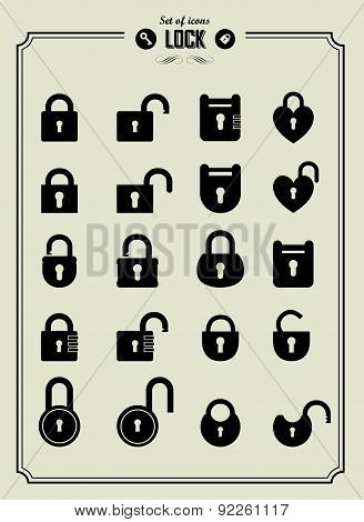 Vector Illustration Of Locks.