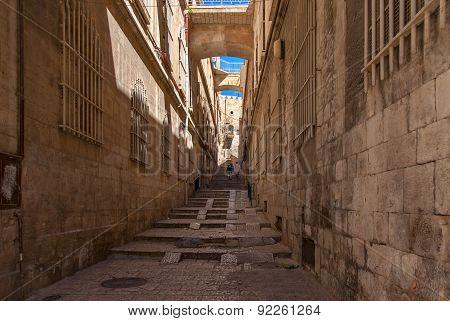 Ancient Alley In Jewish Quarter, Jerusalem