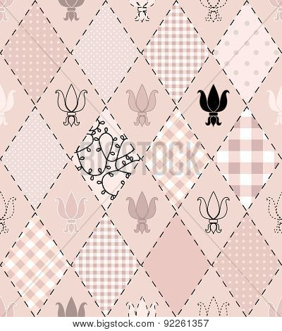 Pattern of the rhombs with royal lily