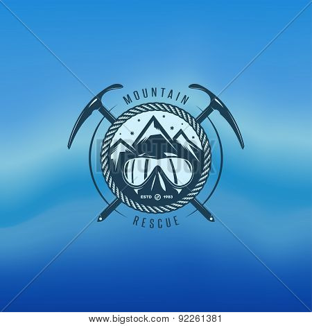 Mountain Rescue Vintage Label.