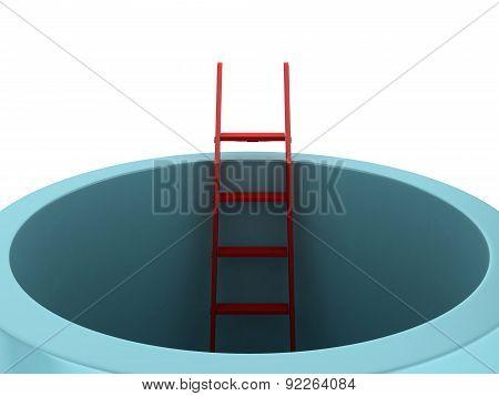 Career Concept On Ladder
