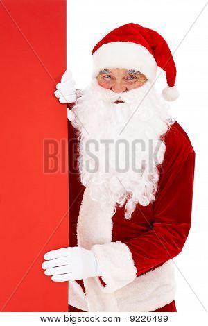 Peeking Santa