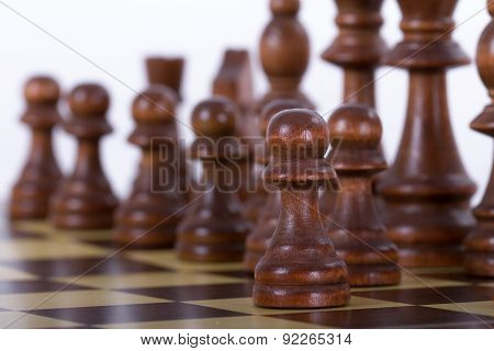 Chess Piece Standing Out