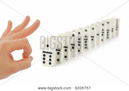 Hand And Domino