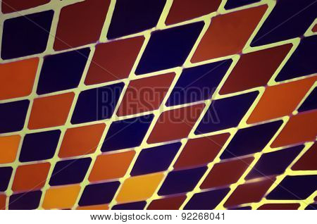 Abstract Harlequin Colorful Diamond Pattern